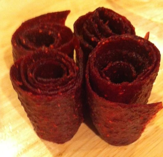 Raspberry Fruit Leathers