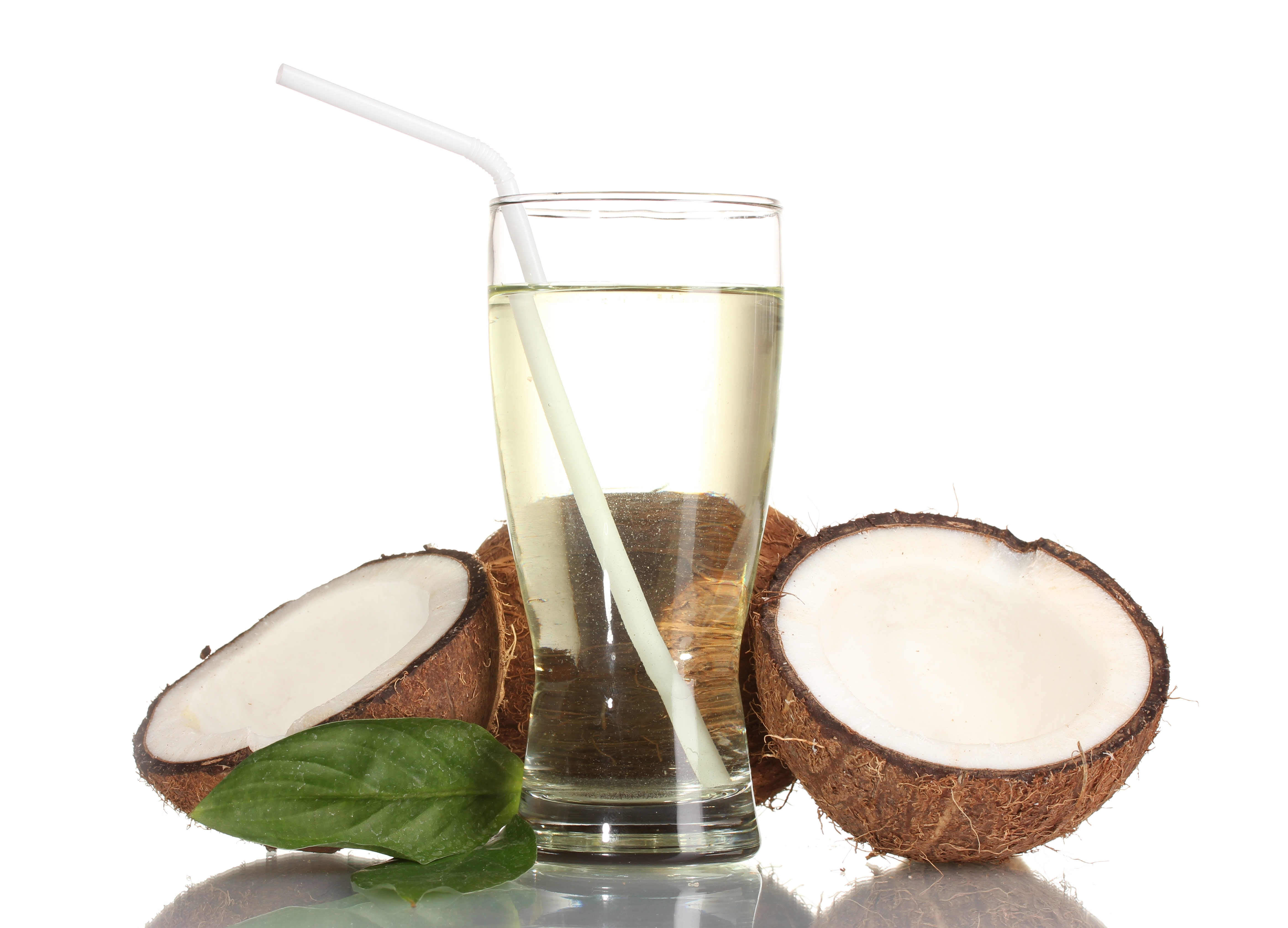 how to drink coconut water from a coconut